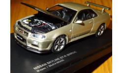 Nissan Skyline GT-R (BNR34) M-Spec, Silica Brass, Kyosho, 1:43, металл, масштабная модель, 1/43