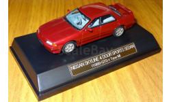 Nissan Skyline 4door Sports Sedan (1989 GTS-t Type M), red, Hi-Story, 1:43, смола