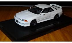 Nissan Skyline GT-R (BNR32) White, Ebbro, 1:43, металл, масштабная модель, 1/43