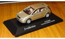 Toyota Corolla Runx Gold J-collection, масштабная модель, 1:43, 1/43