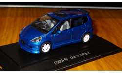 Honda Fit Mugen, Ebbro, Blue, 1:43, металл