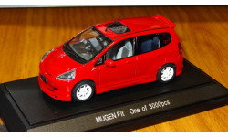 Honda Fit Mugen, Ebbro, Red, 1:43, металл