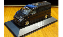 Nissan Elgrand E51 Kenstyle Black Perl Aoshima, масштабная модель, scale43