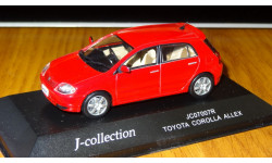 Toyota Corolla Allex XS 150 'G' Edition Red J-collection 1:43, металл, масштабная модель, 1/43