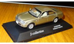 Nissan Cedric 2001 Gold J-Collection, 1:43, металл, масштабная модель, 1/43