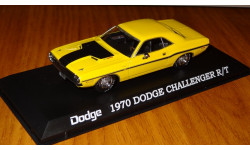 Dodge Challenger R/T 1970 yellow with black, GreenLight, 1:43, металл, масштабная модель, 1/43, Greenlight Collectibles