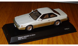Nissan Leopard 3.0 Ultima 1986 (white two tone) (03122W), Kyosho, 1:43, металл, масштабная модель, 1/43