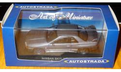 Nissan Skyline GT-R R32, Autostrada, Gray, металл, 1:43, масштабная модель, 1/43, Del Prado (серия Городские автомобили)