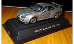 Nissan Skyline GT-R R34, Ebbro, Silver, металл, 1:43