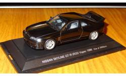 Nissan Skyline GT-R (R33) Vspec 1996, Black, Ebbro, 1:43, металл, масштабная модель, 1/43
