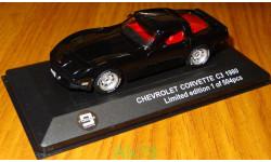 Chevrolet Corvette C3 1980, black, Triple9 Collection, 1:43, корпус металл, масштабная модель, 1/43, Premium X
