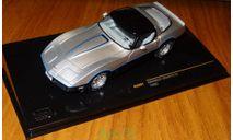 Chevrolet Corvette C3 1980, silver/black, IXO, 1:43, корпус металл, масштабная модель, scale43, IXO Road (серии MOC, CLC)