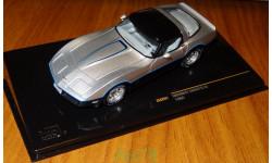 Chevrolet Corvette C3 1980, silver/black, IXO, 1:43, корпус металл, масштабная модель, 1/43, IXO Road (серии MOC, CLC)
