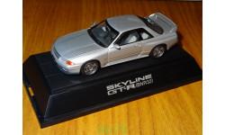 Nissan Skyline GT-R (BNR32) SILVER, ebbro, 1:43, металл