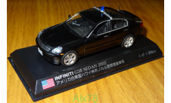 Infiniti G35 Sedan (Skyline) 2002 Hawaii Honolulu Police Dept., MONOX, 1:43, Металл