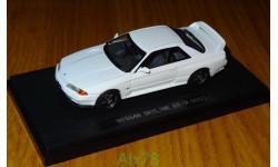 Nissan Skyline GT-R (BNR32) WHITE, Ebbro, 1:43, металл,
