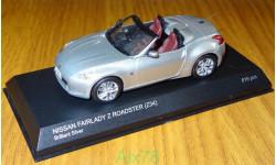 Nissan Fairlady Z Roadster (Z34), brilliant silver, Kyosho, 1:43, металл