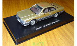 Nissan Leopard Ultima (F31) 1986, Gold, Aoshima Dism, 1:43, металл, масштабная модель, 1/43