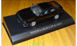 Toyota Celica GT-R 1987, Свет фары, Aoshima Dism 1:43, металл, масштабная модель, 1/43