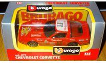 Chevrolet Corvette, Bburago, cod. 4192, 1:43, Италия 1992 год, масштабная модель, scale43