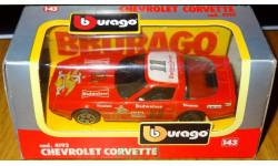 Chevrolet Corvette, Bburago, cod. 4192, 1:43, Италия 1992 год