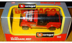 Jeep Renegade, Bburago, cod. 4122, 1:43, Италия 1992 год, масштабная модель, 1/43