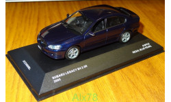 Subaru Legacy B4 2.0R 2005, Blue Pearl, J-Collection, 1:43, металл
