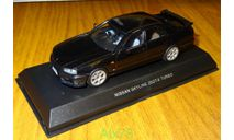 Nissan Skyline 25GT-X Turbo ER34, 1998, Black, Kyosho, 1:43, металл, дорестайл, масштабная модель, 1/43