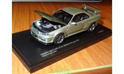 Nissan Skyline GT-R BNR34 M-Spec Nur, Kyosho, металл, 1:43