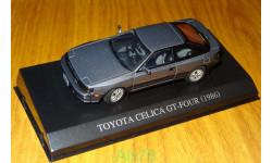 Toyota Celica GT-Four 1986, Aoshima Dism 1:43, металл, масштабная модель, 1/43