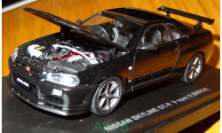 Nissan Skyline GT-R (BNR34) V-Spec II, Black pearl, Kyosho, 1:43, металл, масштабная модель, 1/43
