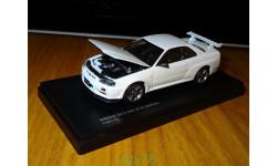 Nissan Skyline GT-R (BNR34) V-Spec N1, White, Kyosho, 1:43, металл, масштабная модель, 1/43