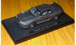 Nissan Skyline GT-R (BNR32) GUN GRAY, Ebbro, 1:43, металл