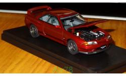 Nissan Skyline GT-R (BNR32), red, Kyosho 1:43 металл