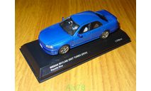Nissan Skyline 25GT Turbo ER34, BaySide Blue, Kyosho, 1:43, металл, рестайл, масштабная модель, scale43