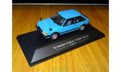 Mazda Familia 1500XG 1982 E-BD1051, Blue, SAPI, 1:43, металл, масштабная модель, 1/43