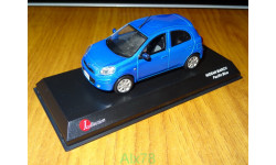 Nissan March, Pacific Blue, J-collection- Kyosho, 1:43, металл, масштабная модель, scale43