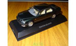 Toyota Celsior 1997, Dark Green, Kyosho, 1:43, металл, масштабная модель, scale43