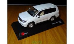 Toyota Land Cruiser 200 2009, White, Kyosho, 1:43, металл, масштабная модель, 1/43