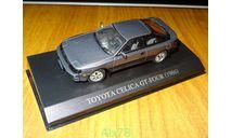 Toyota Celica GT-Four 1986, диоды, Aoshima Dism, 1:43, металл, масштабная модель, scale43