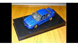 Subaru Impreza WRX Sti, 2001, Blue, Autoart, 1:43, Металл