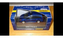 Honda Stream IS, Blue, Ebbro, 1:43, металл, масштабная модель, 1/43