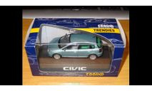 Honda Civic 2001, Green, Ebbro, 1:43, металл, масштабная модель, 1/43