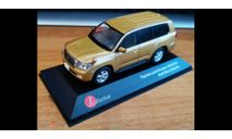 Toyota Land Cruiser 200 2010, Gold, J-Collection, 1:43, металл, масштабная модель, scale43