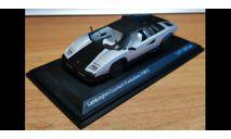 Lamborghini Countach Evoluzione 1987, White Box, 1:43, Металл, масштабная модель, scale43, WhiteBox