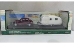 Volkswagen Beetle с прицепом от производителя Cararama/Hongwell в 1:43 масштабе, масштабная модель, Bauer/Cararama/Hongwell, 1/43