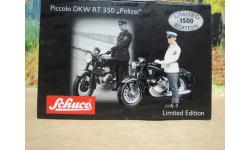 Мотоцикл DKW RT 350 'Polizei' от производителя Schuco в 1:43 масштабе, масштабная модель мотоцикла, scale43
