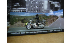 Kawasaki Z900 от производителяUniversal Hobbiesиз серии James Bond 007, масштабная модель, 1:43, 1/43