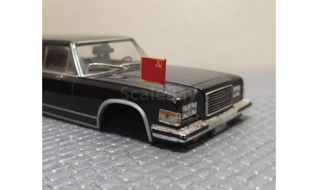 Дипломатический флаг СССР 'жёсткий' на модели автомобилей в масштабе 1:43, запчасти для масштабных моделей, scale43