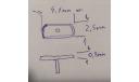 Комплект Оптика противотуманки на газ 3110 в масштабе 1:43, запчасти для масштабных моделей, scale43